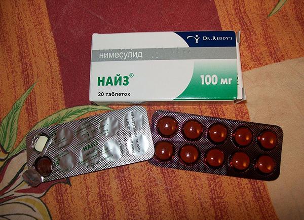 таблетки найз от зубной боли